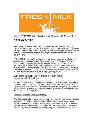 New Opportunities – fresh milk barbados