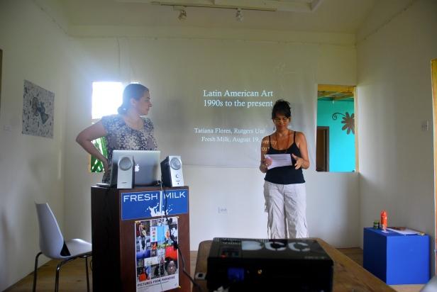 Annalee Davis introducing Tatiana Flores