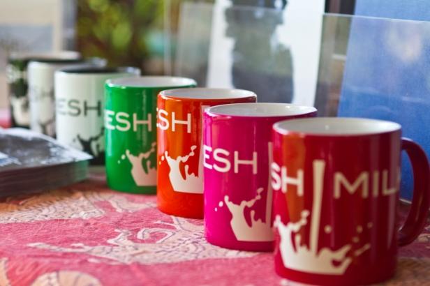 FRESH MILK mugs on sale