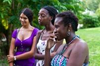 Katherine Kennedy, Alicia Alleyne and Versia Harris