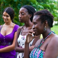 Katherine Kennedy, Alicia Alleyne and Versia Harris