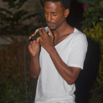 Adrian Green during his performance