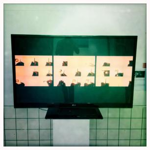 Barbadian artist Janelle Griffith's video in the Youth Biennale