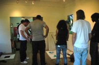The IBB Team conducting studio visits at Fresh Milk