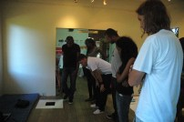 The IBB team in a studio visit with Alicia Alleyne