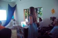 Anna giving her presentation