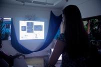 Anna Christina Lorenzen giving a presentation on her work