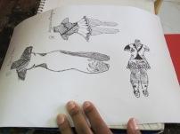 Student's sketchbook