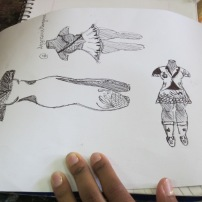 Student's sketchbook