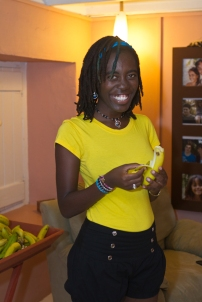 Barbadian artist Janelle Griffith, who assisted with the performance