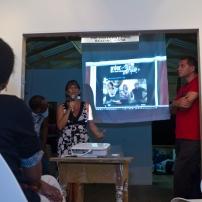 Annalee Davis introducing the IBB team