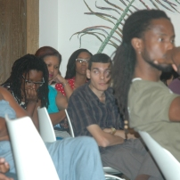 The audience during the discussion