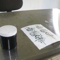 Lino print by Versia Harris
