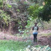 Versia explores the gully