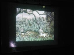 Screening Versia's animation for the children