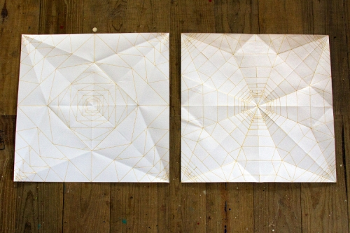 Mark King experiments with origami