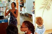 Shanika Grimes presenting her work