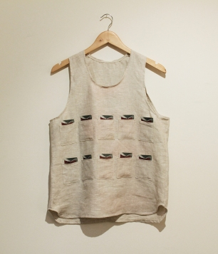 Vest made by Elena Branker, who collaborated with Mark King on this part of the project