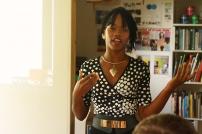 Barbadian artist Shanika Grimes speaking about her performance work