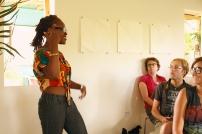Sheena Rose presenting her work