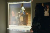 Actor and playwright Matthew Kupakwashe Murrell presenting his work