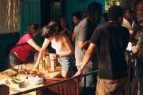 Students enjoying some refreshments