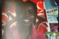New York based performance artist Damali Abrams joining the presentation via Skype