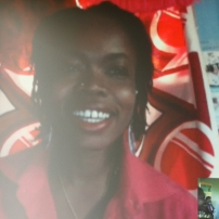 New York based performance artist Damali Abrams joining the presentation via Skype