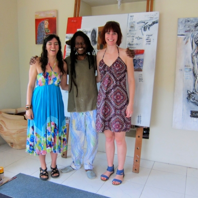 Marla and Conan with Ras Akyem Ramsay