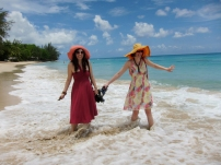 Marla and Conan at the beach