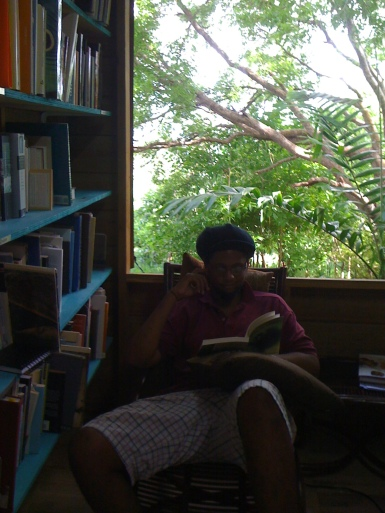 Matthew in the Colleen Lewis Reading Room