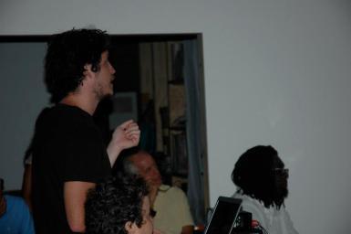 Dermott Punnett presenting his work