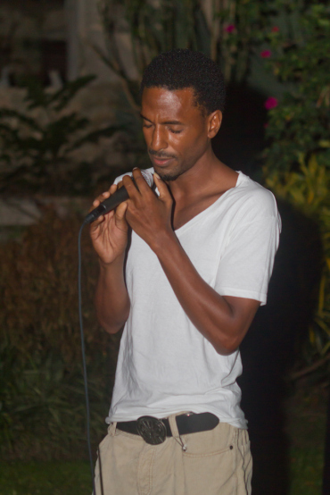 Adrian Green performing