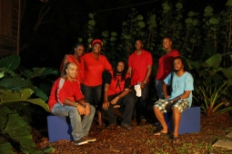 During the performance of and excerpt from 'The Brightest Red' at FRESH MILK XI
