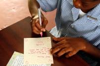 A student of Workman's Primary School