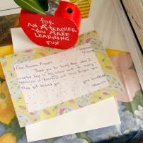 A student's appreciation letter