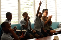 Sasha and the students