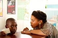Sasha and a student