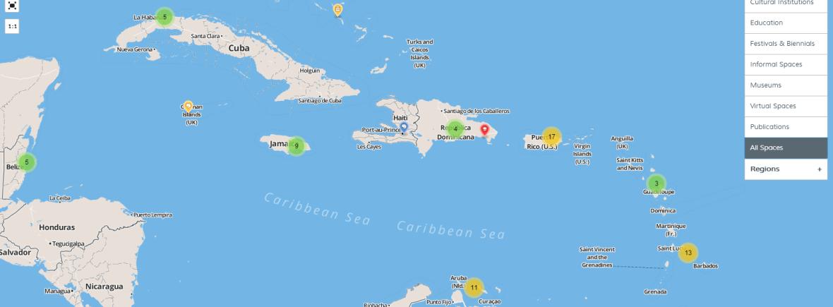 Caribbean Art Map  fresh milk barbados