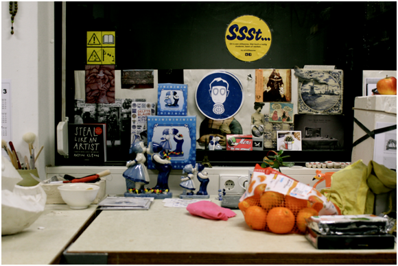 Studio space snapshot 2012