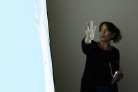 Annalee Davis speaking about Fresh Milk's Virtual Map