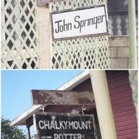 Visiting John Springer at Chalky Mount