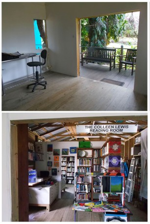 The Fresh Milk studio and the Colleen Lewis Reading Room