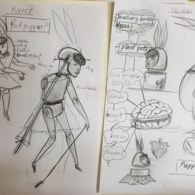 Cherise Ward's sketches.