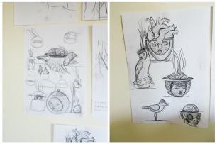 Cherise Ward's sketches.