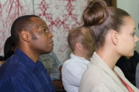 The audience during Nick Whittle's presentation. Photo by Dondré Trotman.