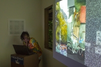 Versia Harris giving her presentation. Photo by Dondré Trotman.