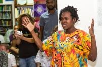 Versia Harris giving her presentation. Photo by Dondré Trotman.