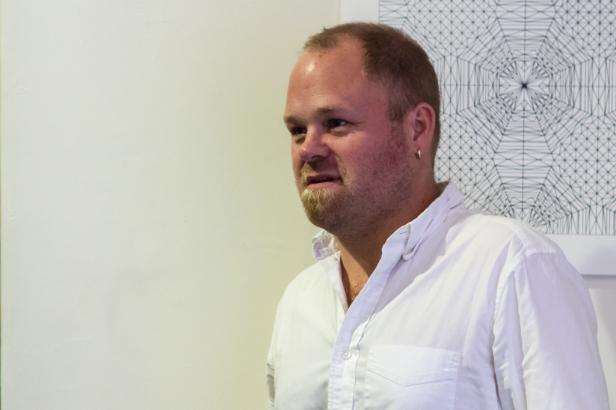 Chief curator at the Pérez Art Museum Miami, Tobias Ostrander, giving his presentation. Photo by Dondré Trotman.
