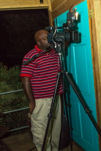 Camera man from CBC. Photograph by Dondré Trotman.